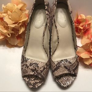 Studio Paolo Immitation Snake Skin Wedges